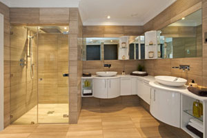 Modern bathroom designs are a great way to boost home value.